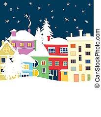 Doodle winter town