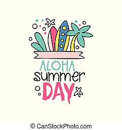 White grunge crossing vector surfing boards with hand drawn doodle with surfing boards and palm tree aloha summer day logo in outline publicscrutiny Images