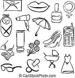 doodle women images