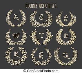 Doodle Wreath Set