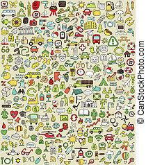 doodle, xxl, jogo, no.1, ícones