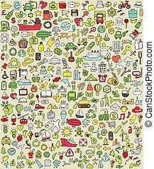 doodle, xxl, jogo, no.2, ícones