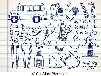 doodles, école