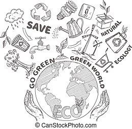 doodles, γενική ιδέα , οικολογία