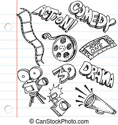 doodles, χαρτί , σημειωματάριο , διασκέδαση