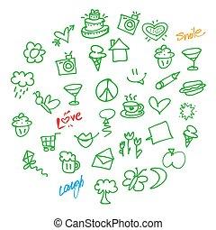 doodles, וקטור, אהוב