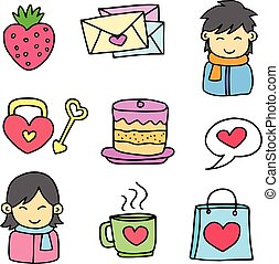 doodles, תימה, וקטור, אהוב, התנגד