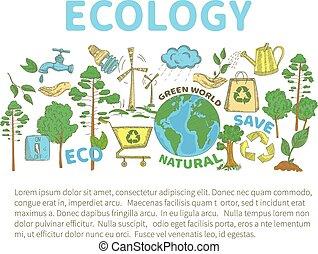 doodles, エコロジー, セット