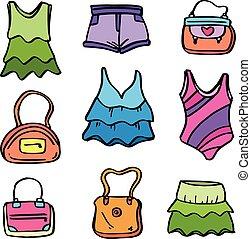 doodles, 女性, コレクション, 衣服
