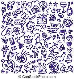 doodles, amore