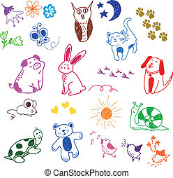 doodles, animale