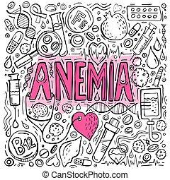 doodles, bakgrund, anemi