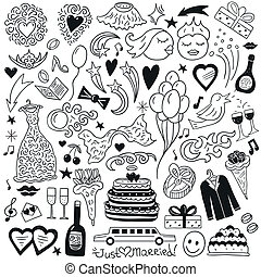 doodles, bröllop