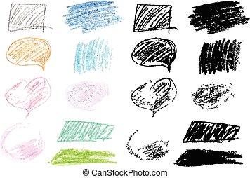 doodles, carboncillo