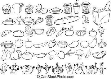 doodles, cibo