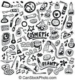 doodles, cosmétique