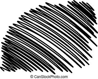 doodles, de, garabato, smears, líneas