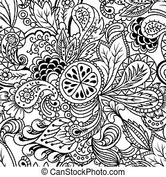 doodles - Cute abstract seamless pattern with doodles