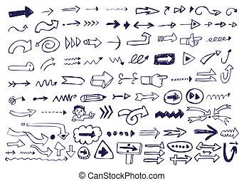 doodles, flecha