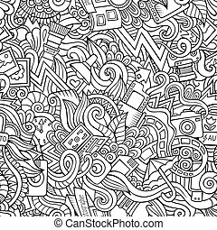 doodles, fotografía, seamless, patrón