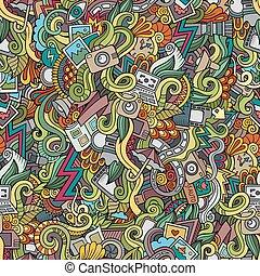 doodles, fotografia, seamless, próbka