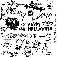 doodles, hand-drawn, halloween