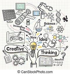 Doodles Idea diagram conceptual. Vector illustration.