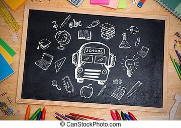 doodles, imagen compuesta, educación