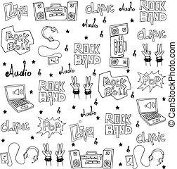 doodles, jogo, música, objeto