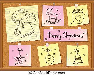 doodles, kerstengel