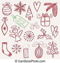 doodles, kerstmis