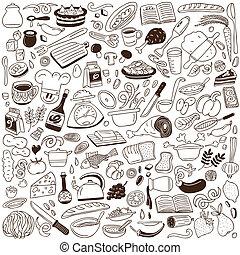 doodles, kochkunst