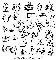 doodles, lebensstil