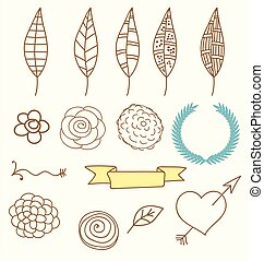 Doodles of Nature Elements