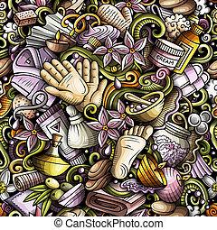 doodles, pattern., disegnato, fondo, terapia, terme, massaggio, seamless, mano