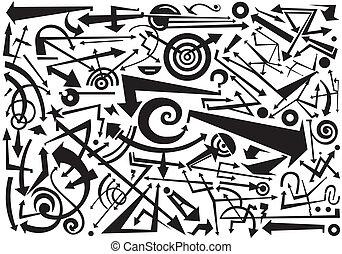 doodles, pfeile