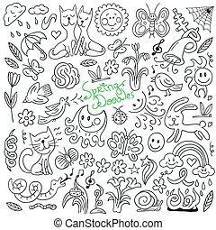 doodles, primavera, -