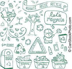 doodles, recycling