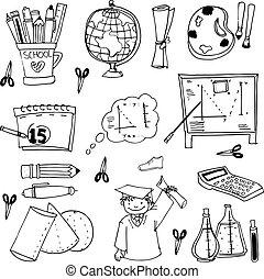 Doodles school education vector