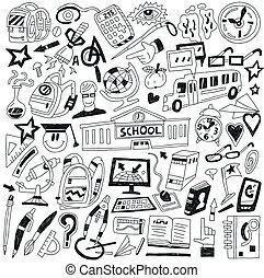doodles, school, opleiding, -