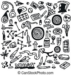 doodles, set, drugs-