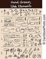 Doodles set for web site design