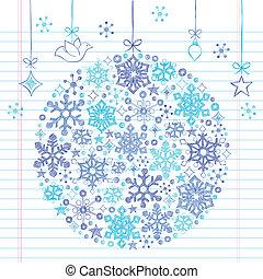 doodles, sketchy, 装飾, クリスマス