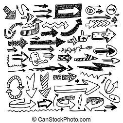 doodles, strzała