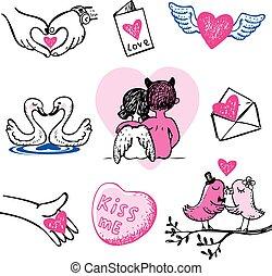 doodles., valentine