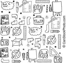 doodles, witte , opleiding, black , school