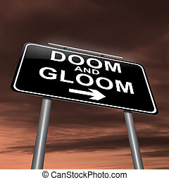 Doom and gloom concept.