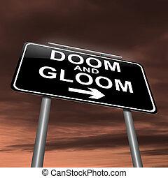 Doom and gloom concept.