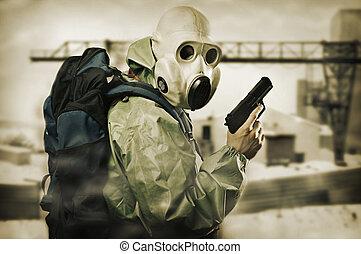 doomsday, arma, homem