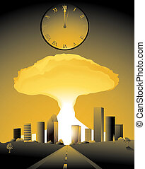 Doomsday - doomsday, with a nuclear bomb going off in a city...